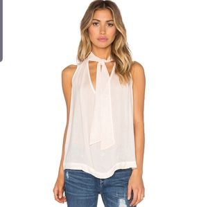 Free People  tie front sleeveless  peach top